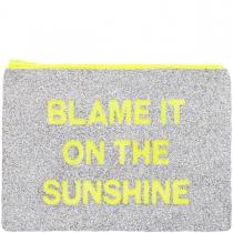 LARGE Sunshine Glitter Clutch Bag