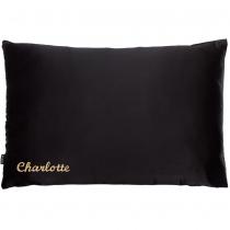 Single Silk Personalised Pillowcase Black