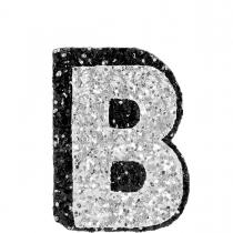 B Glitter Sticker