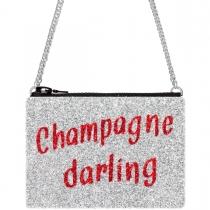 Champagne Darling Glitter Cross-Body Bag