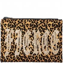 Fierce Gold Leopard Clutch Bag