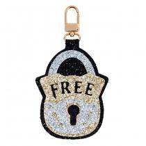 Lock & Key Jumbo Glitter Charm