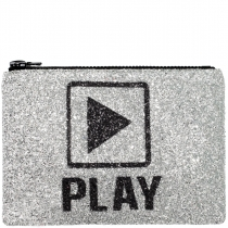 PLAY Glitter Clutch Bag