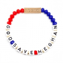 God Save Meghan Stretch Bracelet