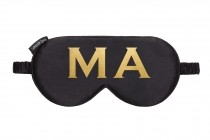 HB London x I Know The Queen Personalised Silk Gold Foil Eye Mask