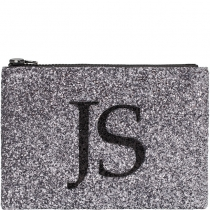 Gunmetal Monogram Glitter Clutch Bag