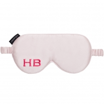 HB London x I Know The Queen Monogram Silk Eye Mask Pink