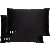 HB London x I Know The Queen Double Silk Personalised Pillowcases Black