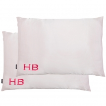 HB London x I Know The Queen Double Silk Personalised Pillowcases Pink