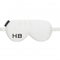 HB London x I Know The Queen Monogram Silk Eye Mask White