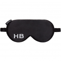HB London x I Know The Queen           Monogram Silk Eye Mask Black