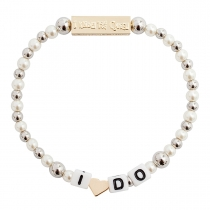 I Do Stretch Bracelet Pearl