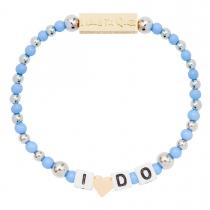 I Do Stretch Bracelet Blue