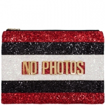 No Photos Glitter Clutch Bag