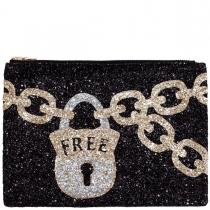 Free Glitter Clutch Bag