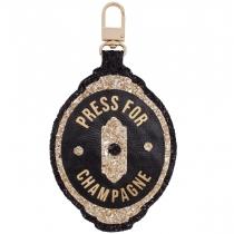 Champagne Button Jumbo Glitter Charm