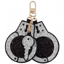 Handcuffs Jumbo Glitter Charm