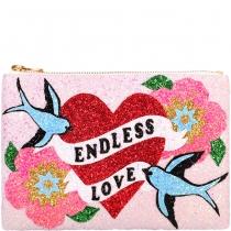 Endless Love Glitter Clutch Bag