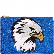 Eagle Glitter Clutch Bag