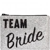 Team Bride Glitter Clutch bag