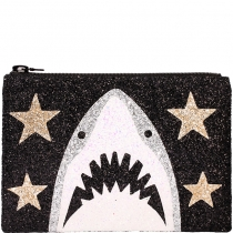 Black Shark Glitter Clutch bag