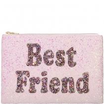 Best Friend Glitter Clutch Bag