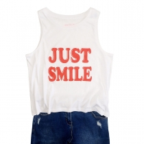 Just Smile Sleeveless T-Shirt