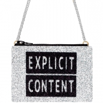 Explicit Content Glitter Cross-Body Bag