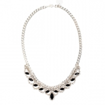 Black and Silver Necklace 07