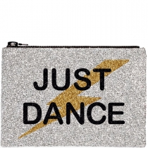 Just Dance Glitter Clutch Bag
