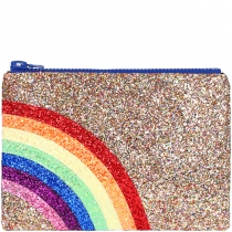 Rainbow Glitter Clutch bag