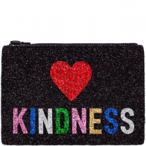Kindness Glitter Clutch Bag