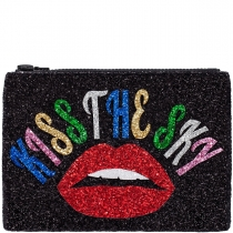 Kiss The Sky Glitter Clutch Bag