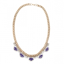 Gold and Purple Necklace 01
