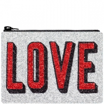 Love Glitter Clutch bag