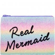 Real Mermaid Glitter Clutch Bag