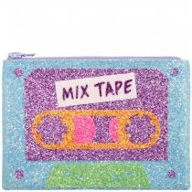Mix Tape Glitter Clutch Bag