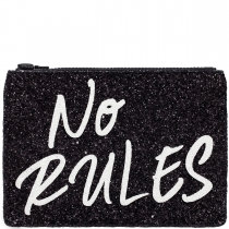 No Rules Glitter Clutch Bag