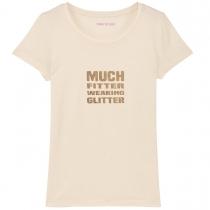 Much Fitter Wearing Glitter T-Shirt Cream