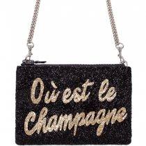 Ou est le Champagne Glitter Cross-Body Bag