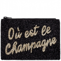 Ou est le Champagne Glitter Clutch Bag