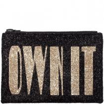 Own It Glitter Clutch Bag