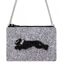 Panther Glitter Cross-Body Bag