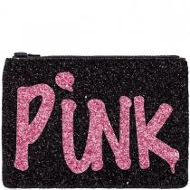 Black Pink Punk Glitter Clutch Bag