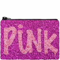 Pink Punk Glitter Clutch bag