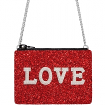 Love Glitter Cross-Body Bag Red