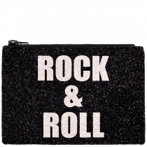 Rock & Roll Glitter Clutch Bag