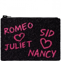 Sid and Nancy Glitter Clutch Bag