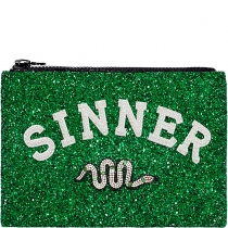 Sinner Glitter Clutch Bag Green