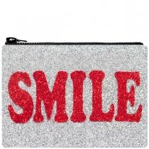 Smile Glitter Clutch Bag Red